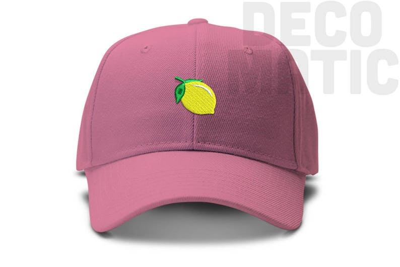 Lemon Emoji Sour Low Profile Cotton Dad hat Baseball Cap  9c956feb9f17