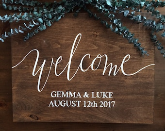 Wedding Welcome Sign - Country Wood Wedding Sign - Wooden Wedding Sign - Rustic Welcome Sign - Wood Wedding Signs - Rustic Wedding Decor -