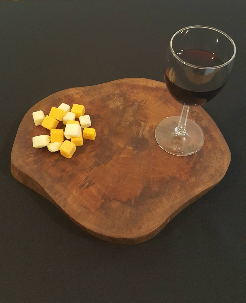 Live Edge Wood Serving Tray Chopping Board Cheese Board