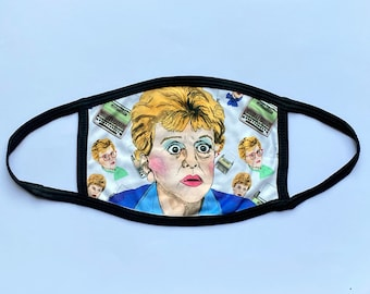 Murder She Wrote (Non-Surgical) Face mask with charity donation.