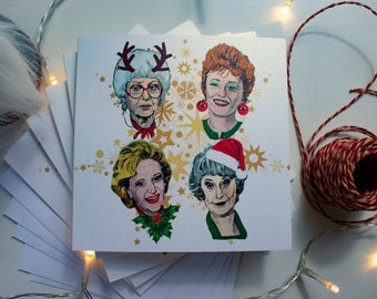 Golden Girls Christmas Card Pack of 5