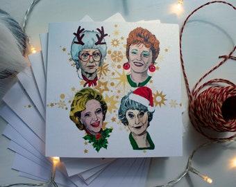 Golden Girls Christmas Card Pack of 5