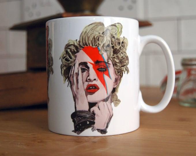 Madonna Rebel (rebel) Heart Mug