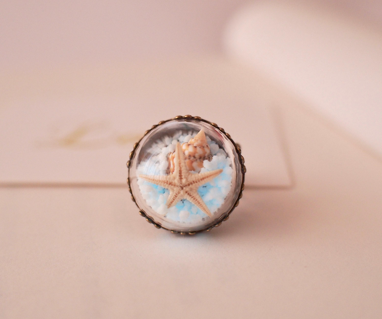 Real Starfish Ring Starfish Ring Beach Ring Ocean Ring | Etsy