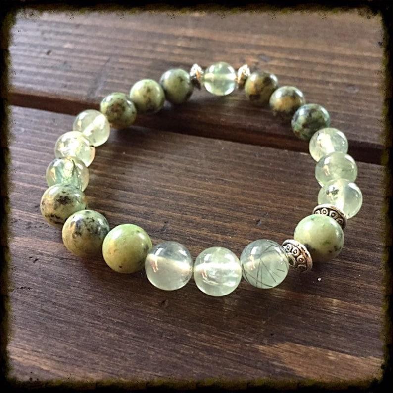 Heart and aolar plexus chakras bracelet