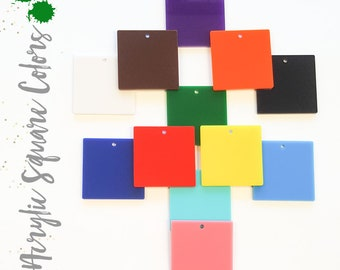 DIY Accessory 1//8 Thickness White, 4.5 Pick Your Color 25PCS of Blank Acrylic Opaque Colors Square Material,Plexiglass Laser Cut Square Sheet with Round Corners