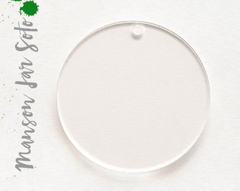 "15/"" Inch Diameter CNC PRECISION CUT Clear Acrylic Circle Disks 1/"" thick"