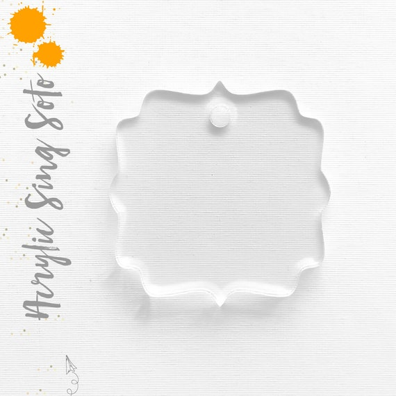 25 acrylic keychain blanks sign soto 1 8 thick select etsy
