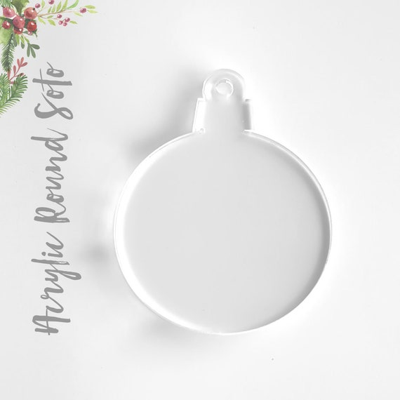 """25 ACRYLIC CHRISTMAS ORNAMENTS BLANK ROUND 1//8/"""" THICK SELECT SIZE /& COLOR"""