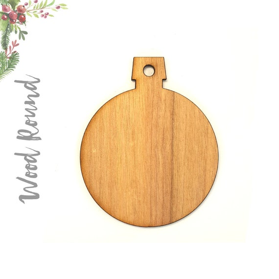 image 0 - 25 Wood Christmas Ornaments Blank ROUND 1/8 Thick Etsy