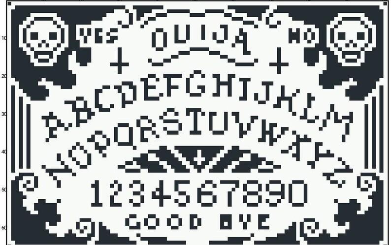 Pdf download ouija board cross stitch pattern