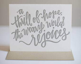 Thrill of Hope - Letterpress Christmas Card