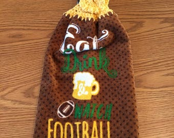Crocheted Hanging Kitchen Towel