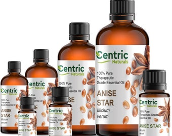 0.3oz - 4oz Anise Star Essential Oil Pure Natural Aromatherapy Oil FREE Shipping