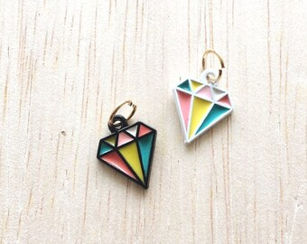 Diamond Charms Jewelry - Psychedelic