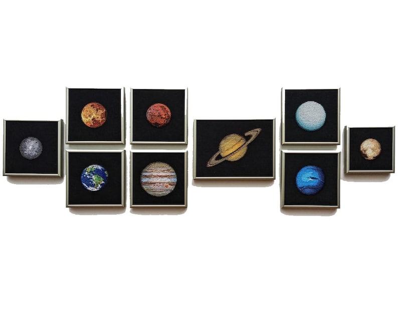 Solar System Planets Cross Stitch Patterns  Set of 9  PDF image 0