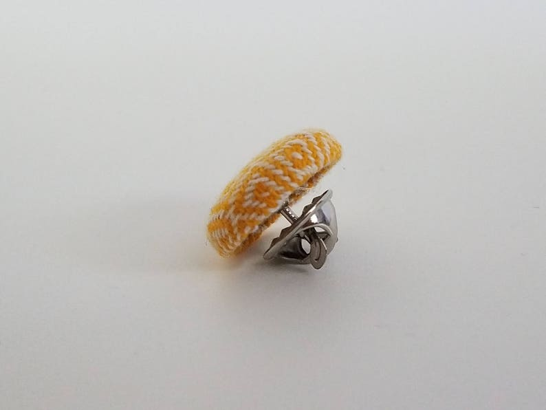 Girasol Wrap Scrap Tie Tack Dad Gift Father/'s Day Gift Formal Wear Accessory Yellow and White