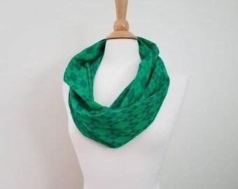 Wrap Scrap Scarf - Infinity Scarf - Ethos - Dusky Argyle - Wrap Scrap - Babywearing - Argyle - Green
