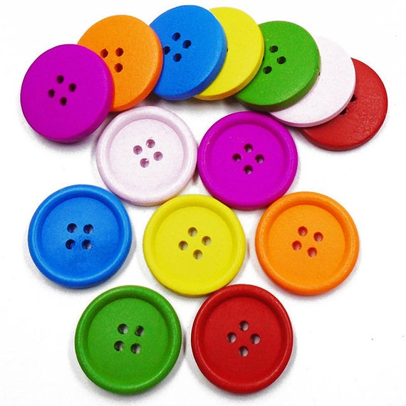 1.38/'/' 54 L 25Pcs LARGE Mixed Resin Plain Buttons with 4 holes 35mm