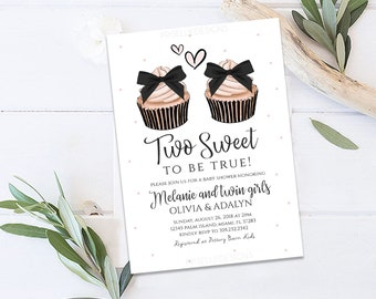 Twin Baby Shower Invitation Etsy