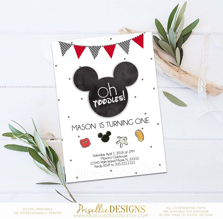 Mickey Mouse Birthday Invitation Mickey Birthday Invitation | Etsy