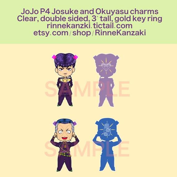 PRECOMMANDE - Jojo partie 4 Josuke et Okuyasu breloques porte-clés