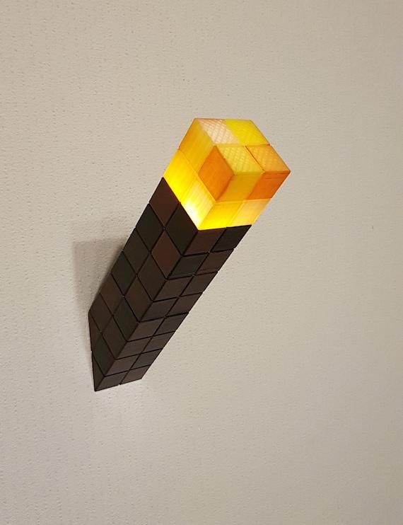 Chambre Veilleuse Fournitures Torche Lampe De Anniversaire Minecraft Fête Décor 34ARjL5q