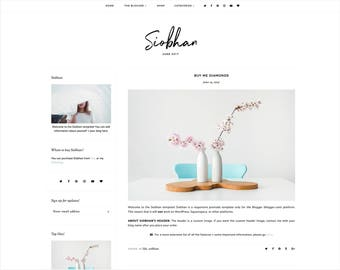 Siobhan | Responsive Blogger Template + Free Installation