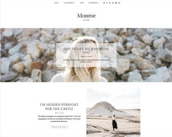 Monroe | Responsive Blogger Template + Free Installation