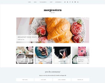 Morgenstern   Responsive Blogger Template With LANDING PAGE + Free Installation
