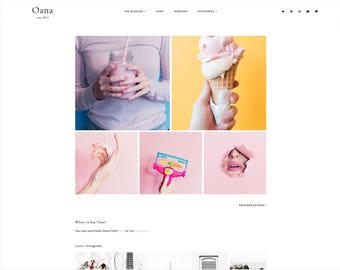 Oana | Responsive Premade Blogger Template + Free Installation