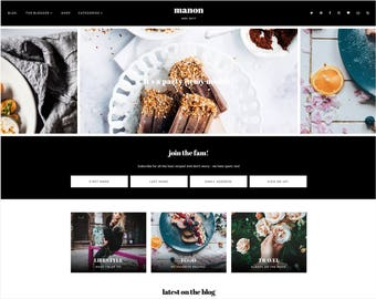 Manon   Responsive Blogger Template With LANDING PAGE + Free Installation