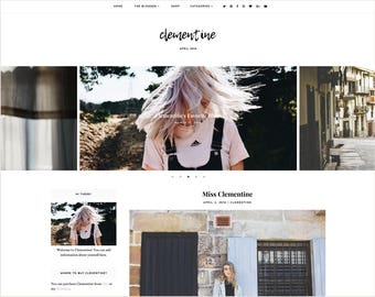 Clementine | Responsive Blogger Template + Free Installation