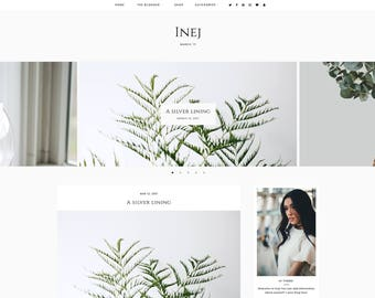 Inej | Responsive Blogger Template + Free Installation