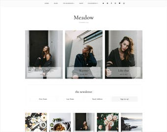 Meadow   Responsive Blogger Template With LANDING PAGE + Free Installation