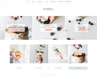Bluebell   Responsive Blogger Template With LANDING PAGE + Free Installation