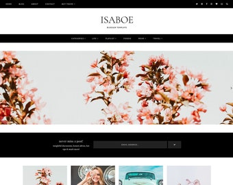 NEW! Isaboe | Responsive Blogger template with a landing page + FREE installation