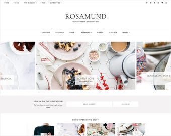 Rosamund | Responsive Blogger Template With LANDING PAGE + Free Installation