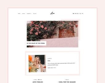 Updated! Ava • Blogger Theme - Feminine, Responsive Theme for Blogger/Blogspot