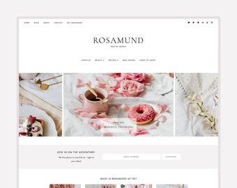 Updated! Rosamund • Blogger Theme // Responsive Theme for Blogger/Blogspot
