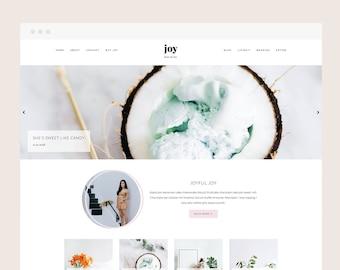 Only 5 left! Joy • Blogger Theme - Feminine, Responsive Blog Theme for Blogger/Blogspot