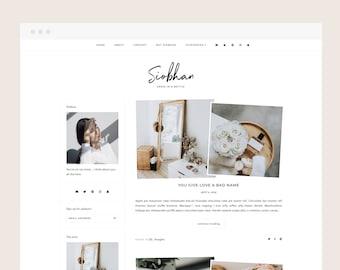 Siobhan • Blogger Theme - Minimalist, Responsive Blog Theme for Blogger/Blogspot