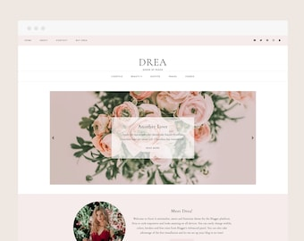 CLEARANCE! Drea • Blogger Theme - Feminine, Responsive Blog Theme for Blogger/Blogspot