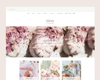 Only 1 left! Livvy • Blogger Theme - Responsive Blog Theme for Blogger/Blogspot
