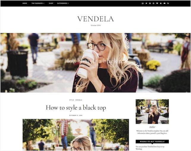 Vendela   Responsive Blogger Template + Free Installation