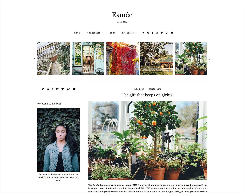 Esme Responsive Blogger Template Free Installation Etsy