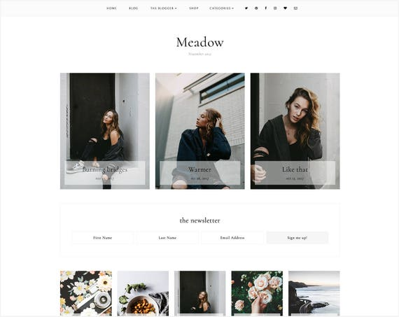 Meadow | Responsive Blogger Template + Free Installation