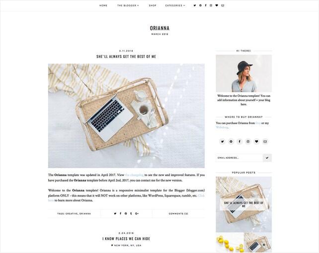 Orianna   Responsive Blogger Template + Free Installation