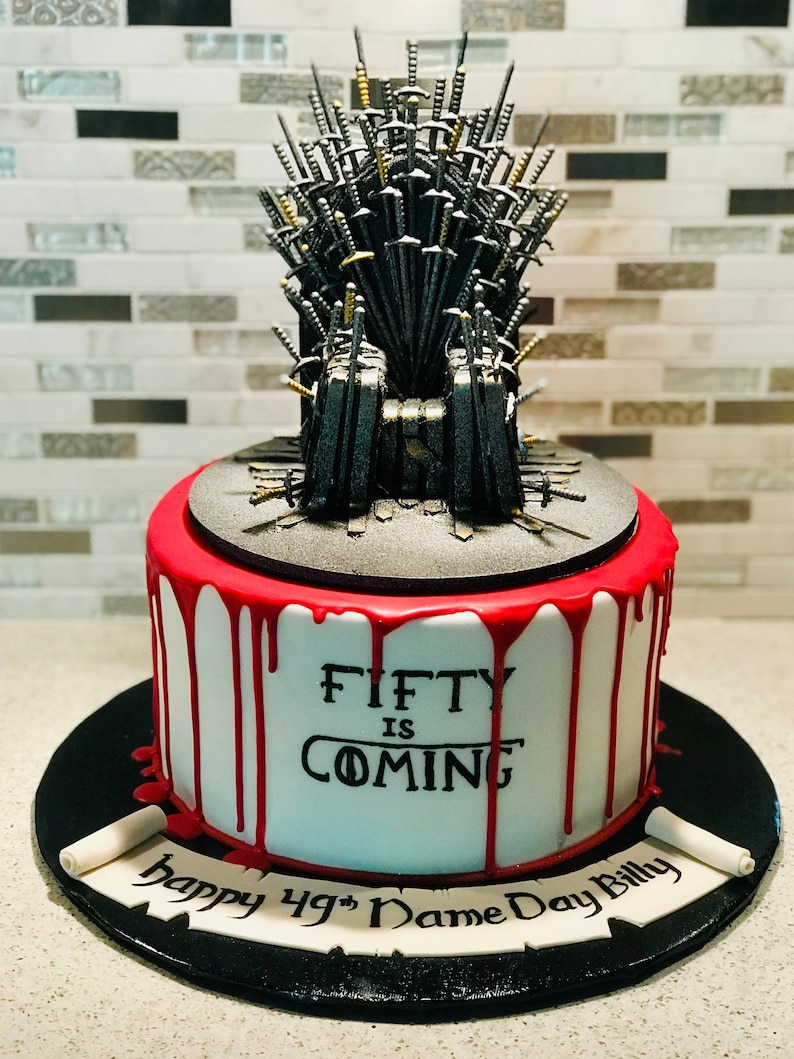 Game Of Thrones Cake Topper Gift For Him