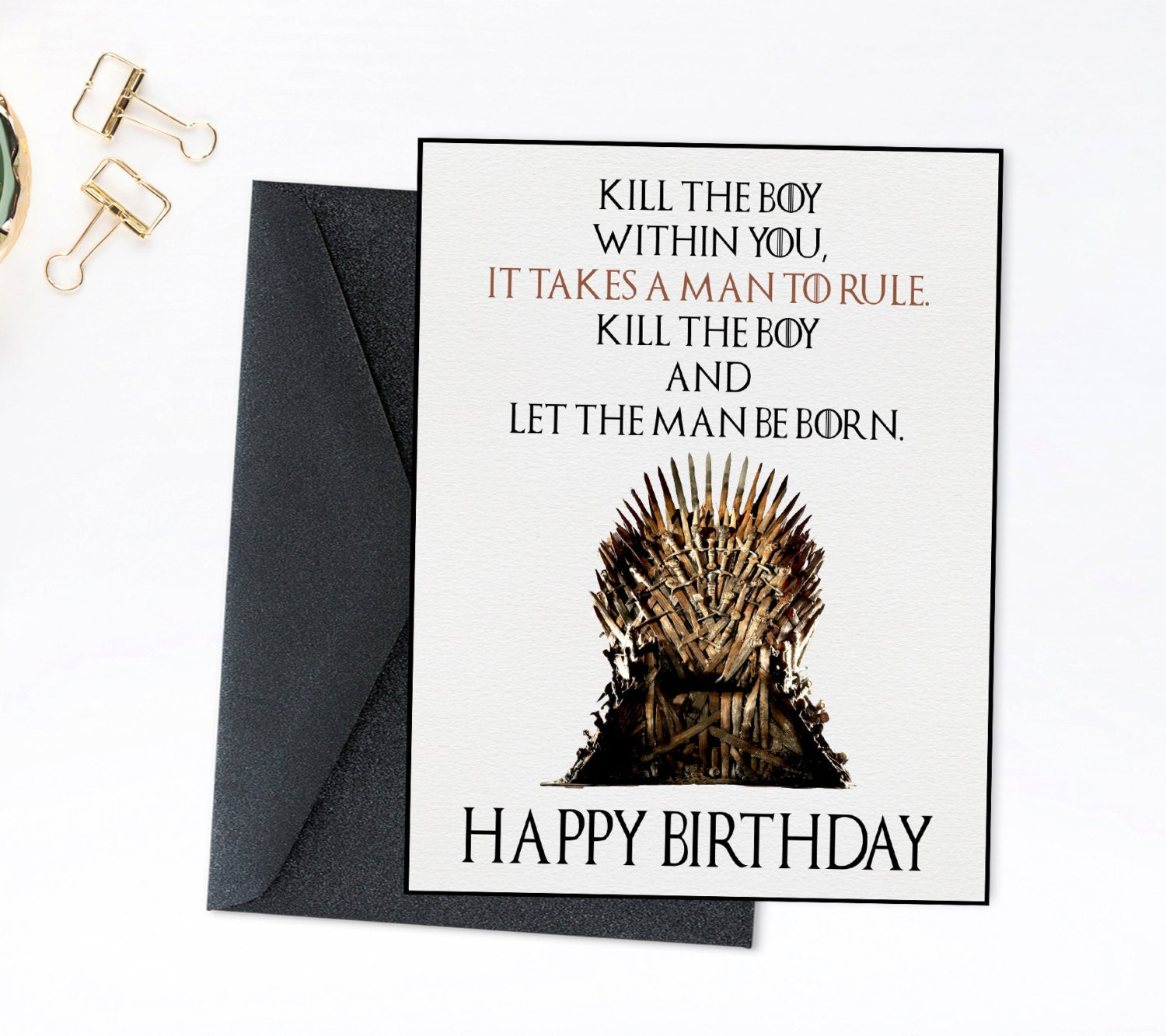 Game Of Thrones Birthday Card Printable Throne